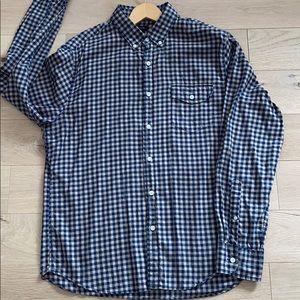 Men's Large Slim J.Crew shirt mini buffalo check